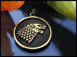 Game Of Thrones House of Stark Direwolf Pendant by BaldurJewelry