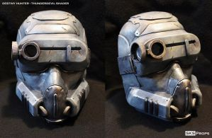 Destiny Hunter Cosplay Mask ThunderDevil Shader by SKSProps