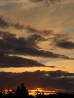 Victoria BC Sunset 2 by Cam-s-creations