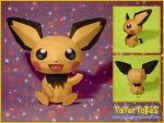 Pika-colored Pichu Papercraft by Lyrin-83