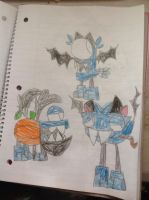 Mixels Wheres Scary Costumes Glowkies by thedrksiren