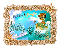 Pewdie and Jennifer Riding the Waves by Nipah-chan24