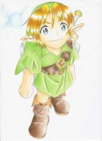 Ocarina of Time Kid Link (Colored) by SugarBubbles2000