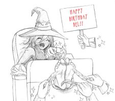 Hahahappy Birthday Del: Gift 1 by pirata3