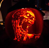 Zombie Pumpkin Carving by ashleymenard122