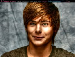 Zac Efron by powerspiders