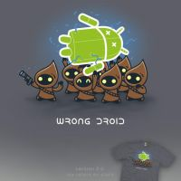 Wrong Droid - tee by InfinityWave