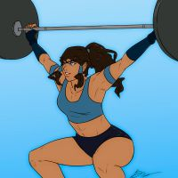 Korra and some crossfit by SoDrawnOut
