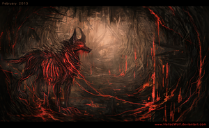Hellhound on a Leash. by HeliacWolf
