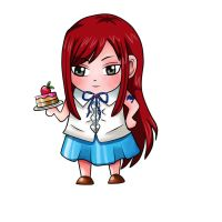 Chibi Erza by 001devil
