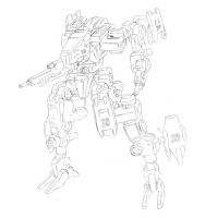 mecha drawing 20 by internalbattery