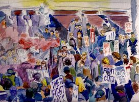 Protest Watercolour by 80sdisco