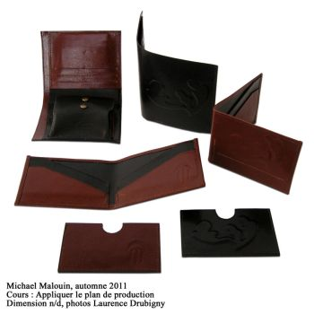 Leather wallet and accessory by MikeHellius