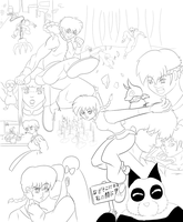 Ranma Poster WIP ink by MicAwesome