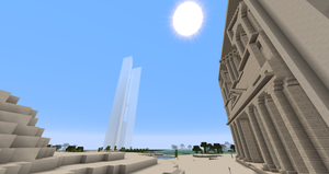 Minecraft - 151 Incheon Towers and Petra by MinecraftArchitect90