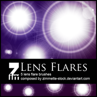 Brush - Lens Flare by Zimmette-Stock
