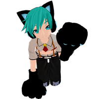 Meow -with gloves- by MMDbeginner
