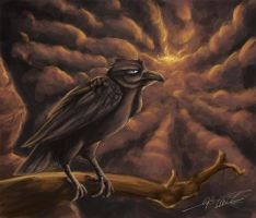 Crow speed painting by Sun-wing