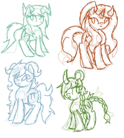 Ponified ocs by vega37