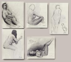 life drawing sketches by EthicallyChallenged