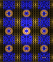 Gold and Blue Tile by baba49