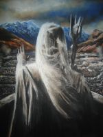 Soft Pastel Drawing The Saruman by blackblacksea
