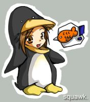 Penguin girl by ync