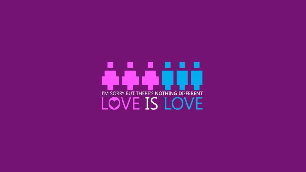 Go Purple, Nothing Different, Love is Love by sharkurban