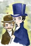 Holmes and Watson Portrait by elina-elsu