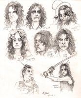Alice Cooper sketchdump by Red-Szajn