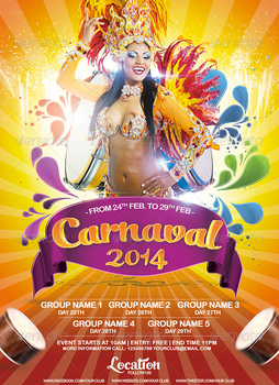 Carnival 2014 Flyer Template by AudioNeptune