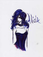 Alicia in black and blue by commy