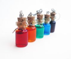 Rainbow Potions by FrozenNote