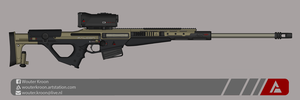 Quicksilver Industries: 'Falcon' Sniper Rifle by Shockwave9001