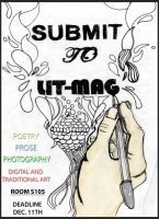 Lit Mag Poster by Tikwid
