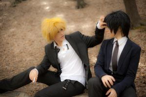 Shizuo x Izaya cosplay from Durarara 4 by altugisler