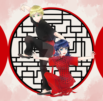 Gong Xi Fa Cai from Adrien and Marinette by Kokoroyomi