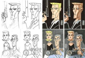 Sketch Card Steps 1 by OtisFrampton