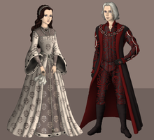 Rhaegar and Lyanna by alcanis-ivennil