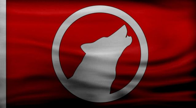 WOLF FLAG by Telafer