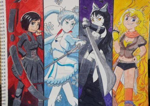 Team RWBY by JustEmilyMan