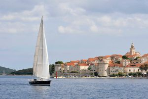 Sailing past Korcula 1 by wildplaces