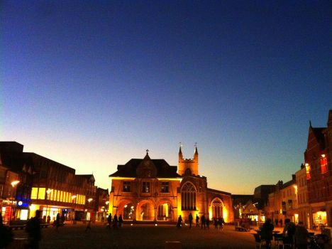 Peterborough in the evening by Sean-James