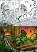 Collab: Cretaceous Africa by tuomaskoivurinne