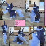 14inch Luna Moon Plushie Commission Finished!! by Who-Butt
