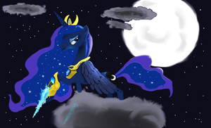 Zealot Luna by KnightofEquestria