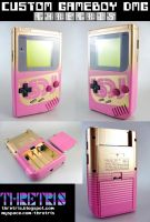 Pink and gold LSDJ gameboy by Thretris