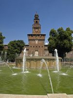 Sforza Fortress with Fountain by AgiVega