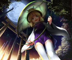 Frog Girl Suwako - Night ver. by pocketbee