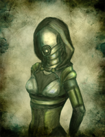 ME: Quarian sketch by R-Aters